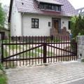 Zaun Berlin gerade, in Farbe schokoladenbraun RAL 801