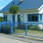Gartentor in Sonderfarbe für Doppelstabmatte Hersteller Stargate-Zaun
