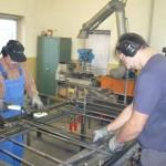 Herstellung von Türen mit Doppelstabmatten-Füllung
