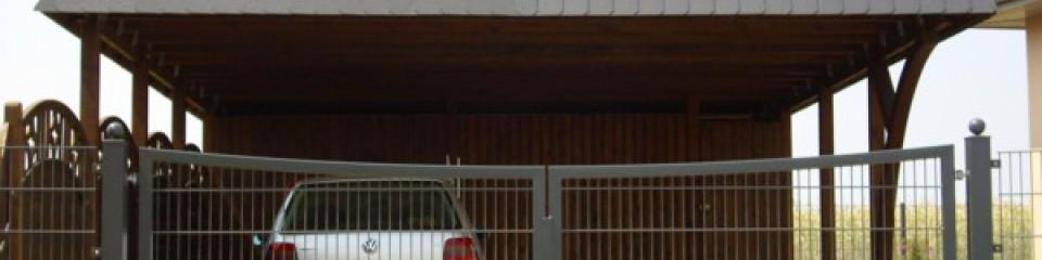 Aluminum Doppeldrehflügeltor mit Gittermatteneinsatz